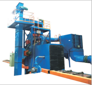 Roller shot blasting machine (steel structure and H-beam)
